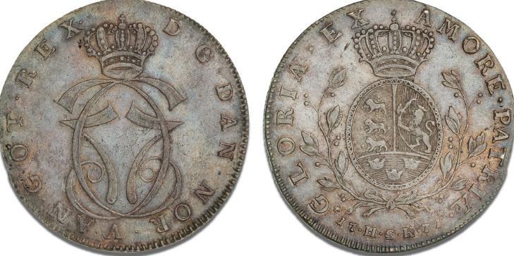 Speciedaler 1771 HSK, København, H 11A, S 3, Dav. 1307