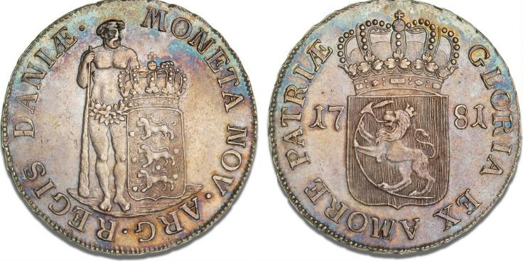 Albertsdaler 1781, Altona, H 22B, S 4, Dav. 1310