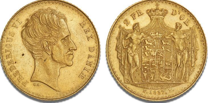 2 Frederik d'or 1837 FF, H 5A, S 1, F 288