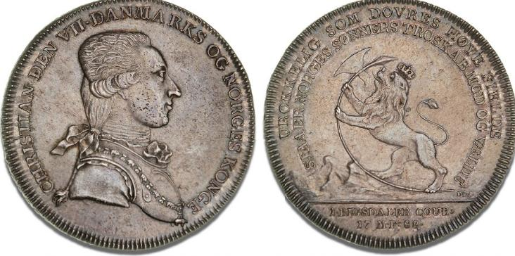 Kurantdaler 1788, NMD 1, H 25, S 7, Dav. 1312