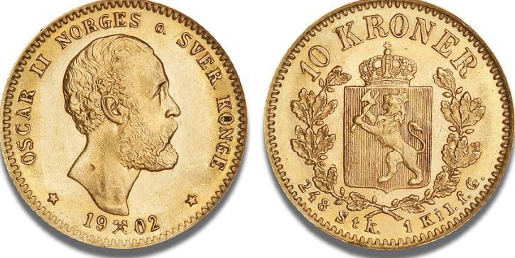 10 kr 1902, NM 12, F 18