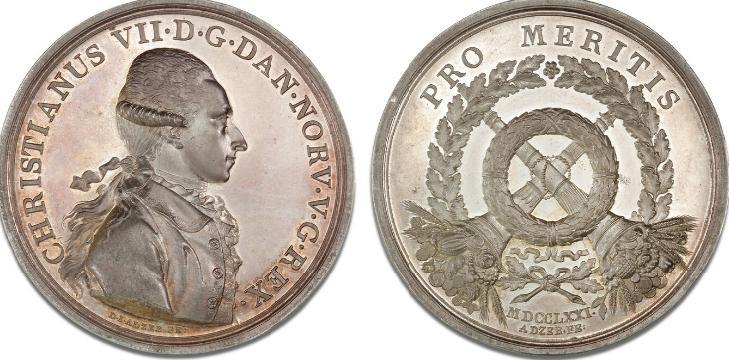 Medaljen for Ædel Daad / Pro Meritis, 1771, D. I. Adzer / S. A. Jacobsen, G 473, LS 2-008, fig. 337, 52 mm, 86,7 g
