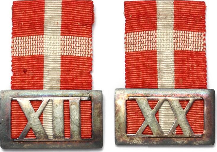 Hæderstegn for underofficerer for 12 og 20 års tro tjeneste u. år (1842), LS 6-013 (fig. 668)