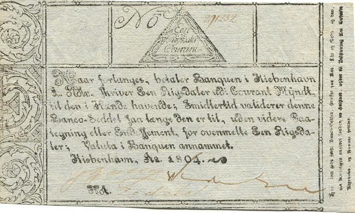 Rigsdaler Courant 1804, No. 291232, Sieg 39, DOP 30, Pick A28, Rønning S 38a
