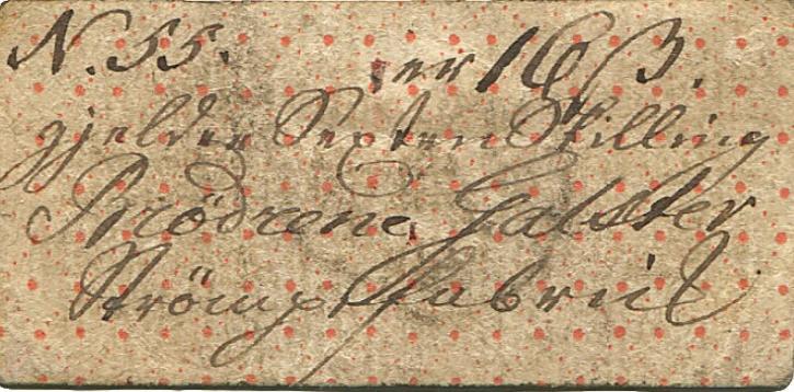 Aalborg, Brødrene Galster, 16 skilling 1809, No. 55, FGN 212 - håndskreven seddel af største sjældenhed
