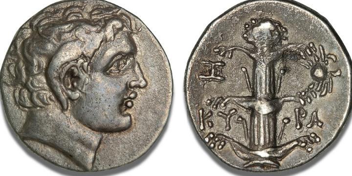 Kyrenaica, Kyrene, Magas as governor, c. 300 - 275 BC, Didrachm, cf. SNG Cop. 1243, BMC 256 (same dies)