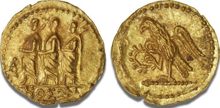 Scythian Kingdom, Koson, c. 50 - 25 BC, Au-Stater, Olbia, RPC 1701 A, 8.38 g, slight flan flaw at edge