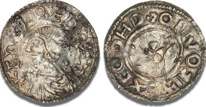 Sydskandinavien, penning, imitation af Aethelred II's Long Cross / Small Cross typer, Malmer 189 / 1768, SCBI Cop. 1664