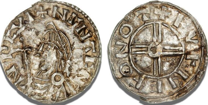 Sydskandinavien, penning, imitation af Knud d. Stores engelske Short Cross type, Malmer 572/9454