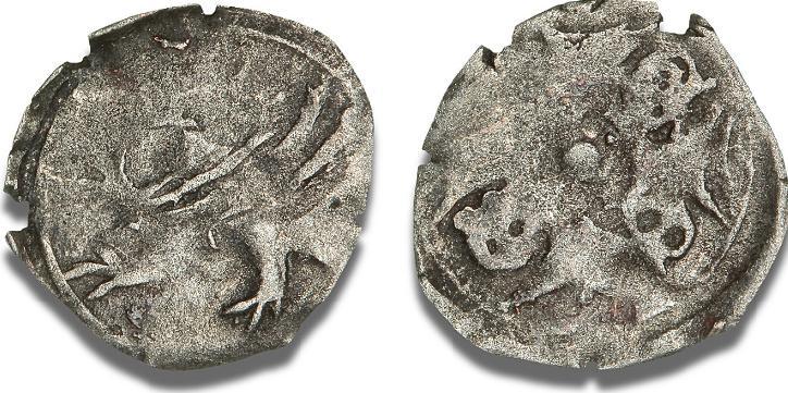 Erik (Eryk) I af Pommern-Stolpe, penning u. år (ca. 1450) slået i Kammin, Dbg. 341 - sjælden