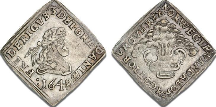 1/4 speciedaler 1648, H 47, S 32, Aagaard 67.2