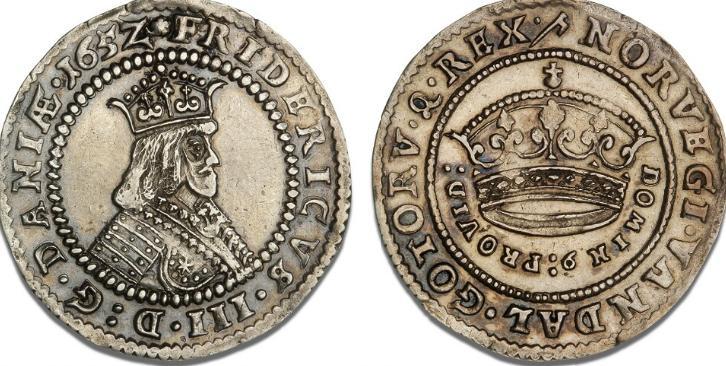 Krone 1652, H 84A, Aagaard 6.8, Dav. 3567