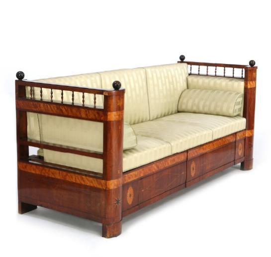A Danish Empire mahogany sofa