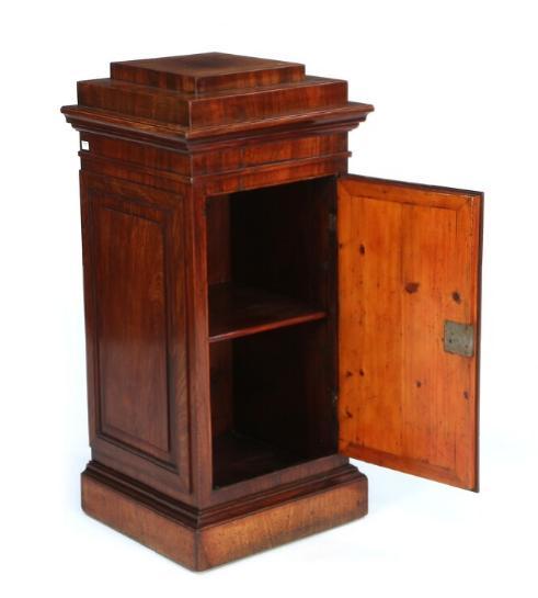 A small Danish late Empire pedestal cupboard