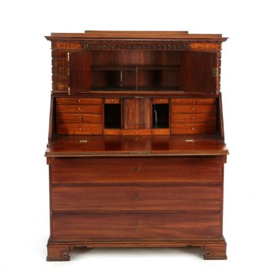 A Danish Louis XVI mahogany bureau