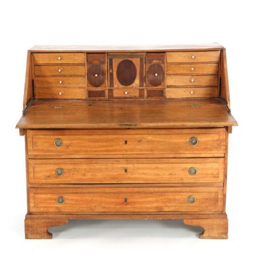A Danish Louis XVI oakwood bureau