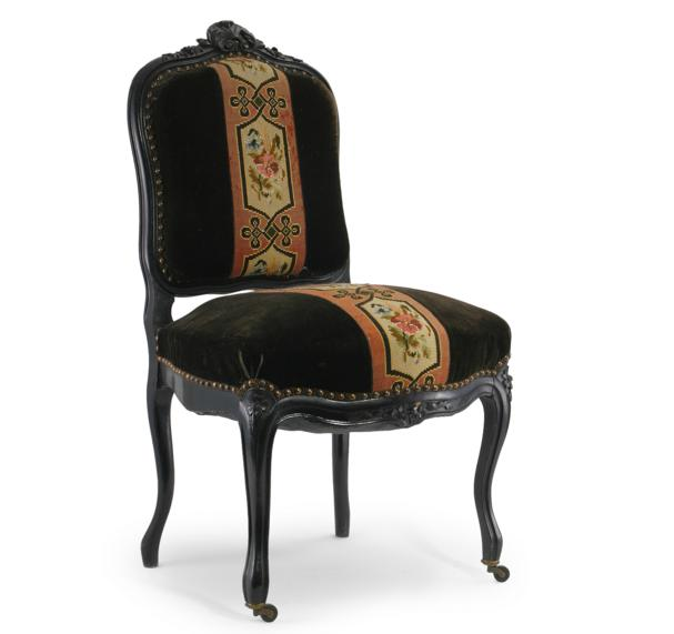 PAIR OF UPHOLSTERED FRENCH CHAIRS