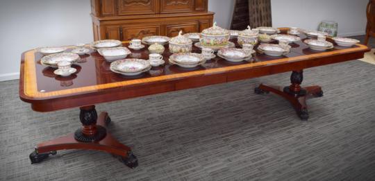 REGENCY STYLE BAKER EXTENSION TABLE