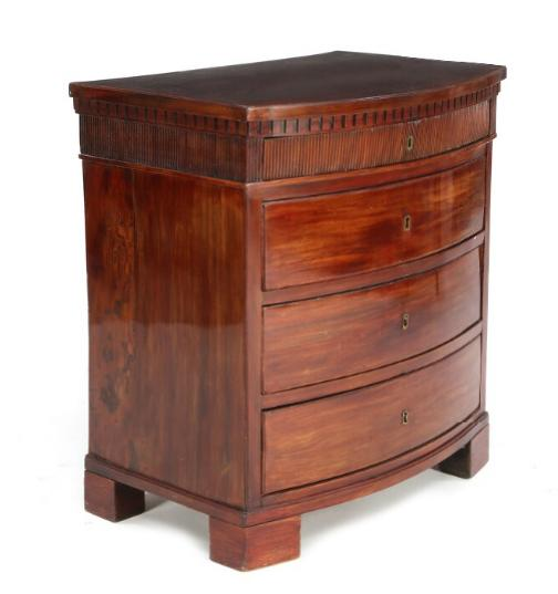 An early Danish Empire mahogany chest of drawers.