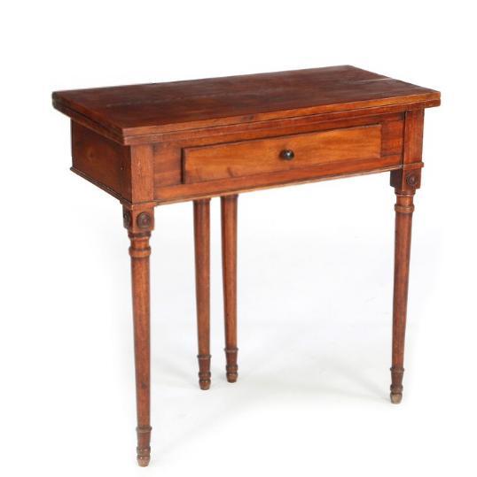 An early Danish Empire mahogany card table