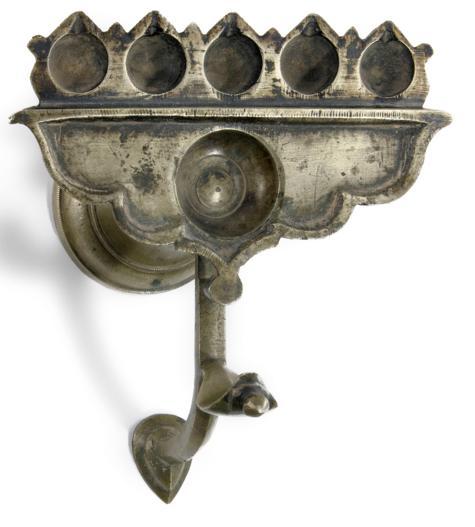 SNAKE FORM NAGA TEMPLE LAMP