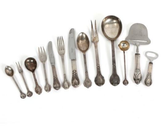 """No. 3"""". Silver cutlery"""