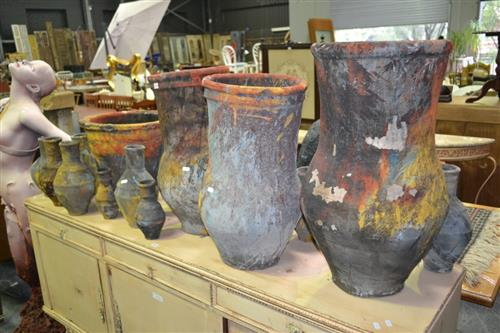 Large Collection Of Painters Pots