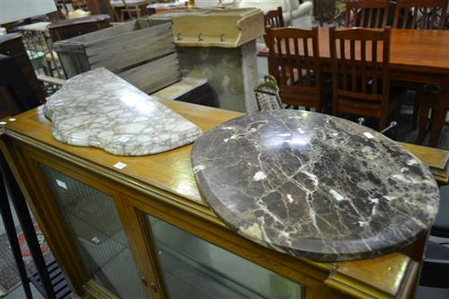 2 Varied Marble Pieces