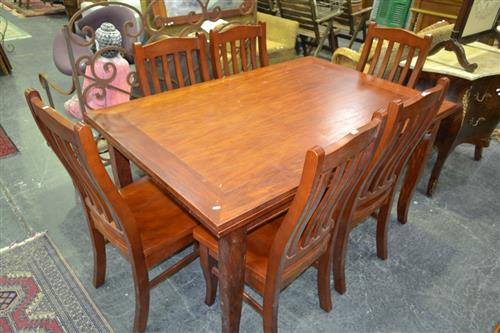 Dining Setting incl. Draw Leaf Table w 6 Chairs
