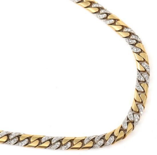 Fred, Paris: Diamond necklace set with numerous brilliant-cut diamonds