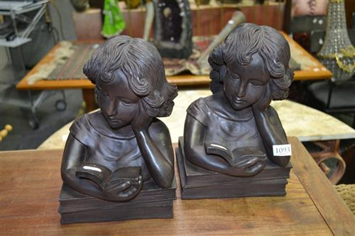 Pair of Female Form Bookends