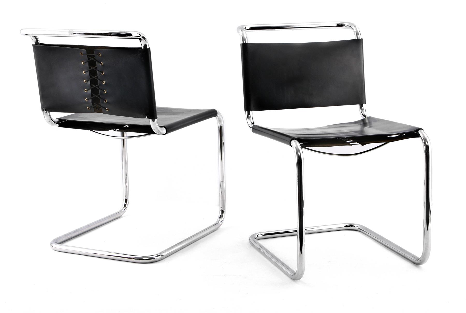 SET OF FOUR B33 CHAIRS BY MARCEL BREUER FOR KNOLL