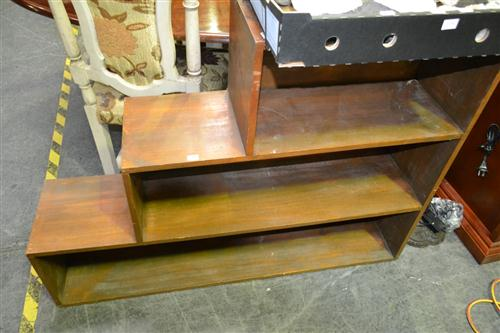 Timber Step Side Bookcase