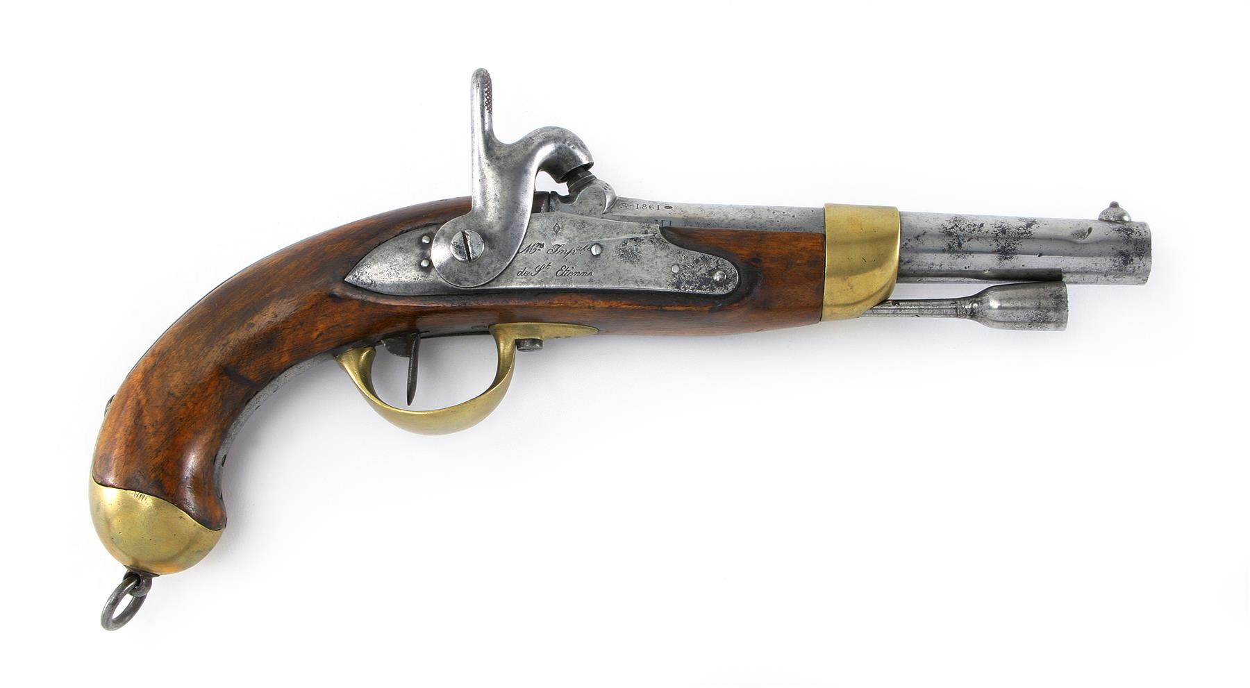 FRENCH PERCUSSION CALVARY PISTOL