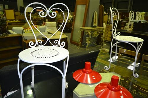 Pair of Metal Outdoor Chairs