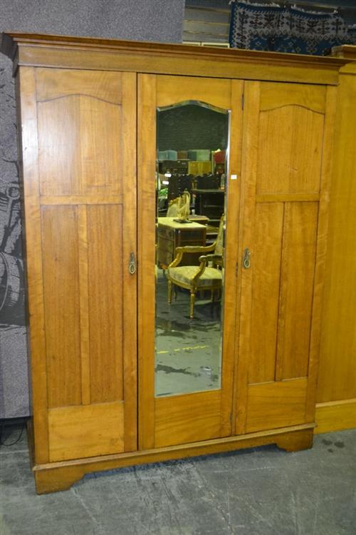 Three Door Kauri Pine Wardrobe