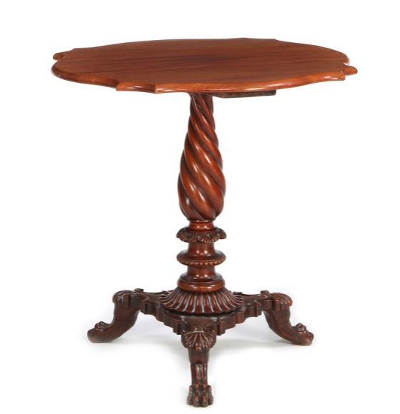 A small Danish occasional mahogany table