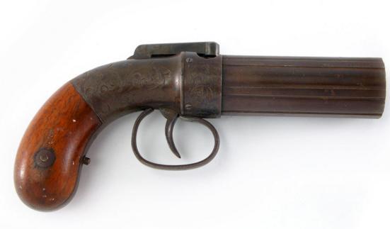 ALLEN & THUBBER SIX SHOT PEPPERBOX PISTOL