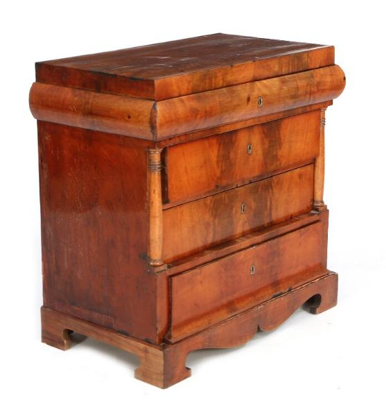 A Danish late Empire mahogany chest of drawers