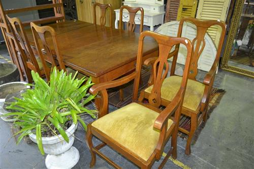 Seven Piece Dining Setting Inc Table And Six Chairs