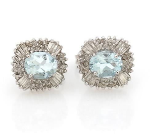 A pair of aquamarine