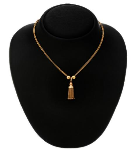 A necklace of 18k gold. L. 41 cm. Weight app. 12.5 g.