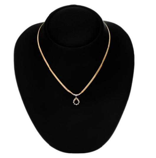 A sapphire and diamond necklace set