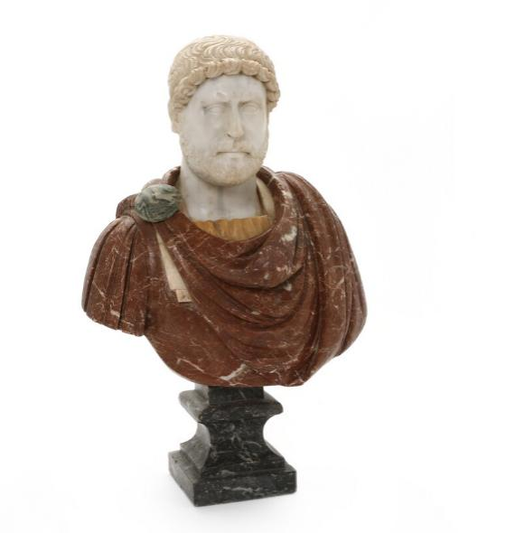 Marble bust depicting Hadrian