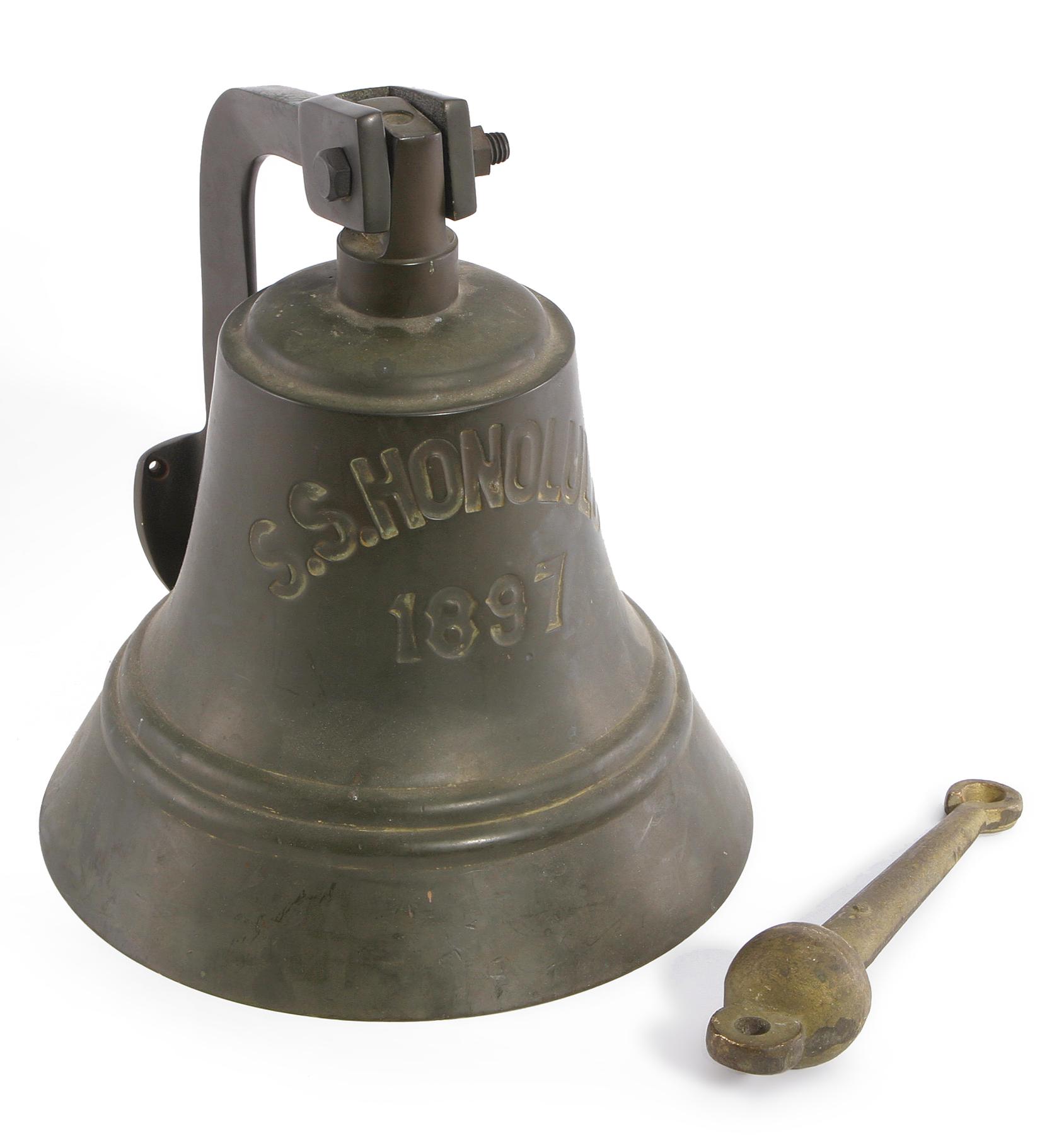 S. S. HONOLULU SHIP'S BELL.