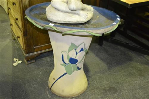 Ceramic Planter on Plinth