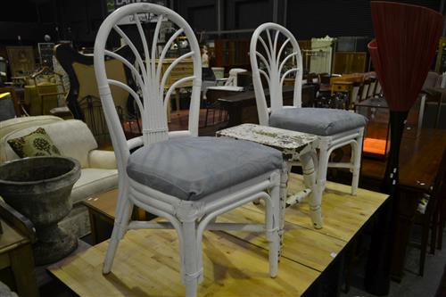 Pair of Painted Cane Chairs