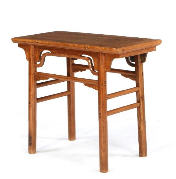 A Chinese elmwood console table