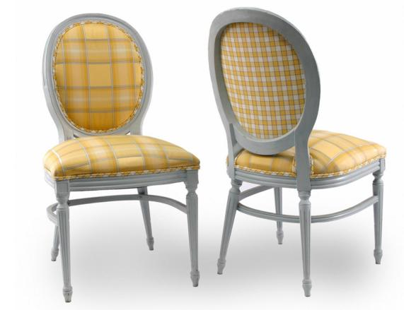 PAIR OF LOUIS XVI STYLE SIDECHAIRS