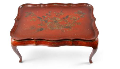 CHINOISERIE STYLE TRAY TOP TABLE